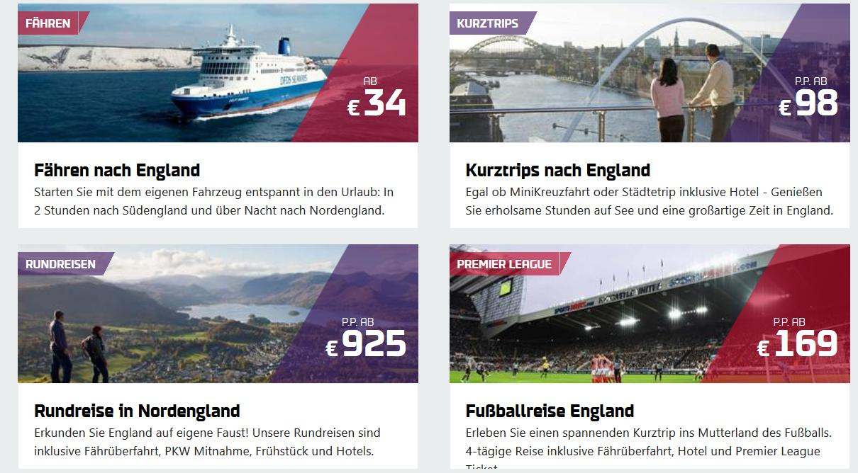 DFDS England Angebote